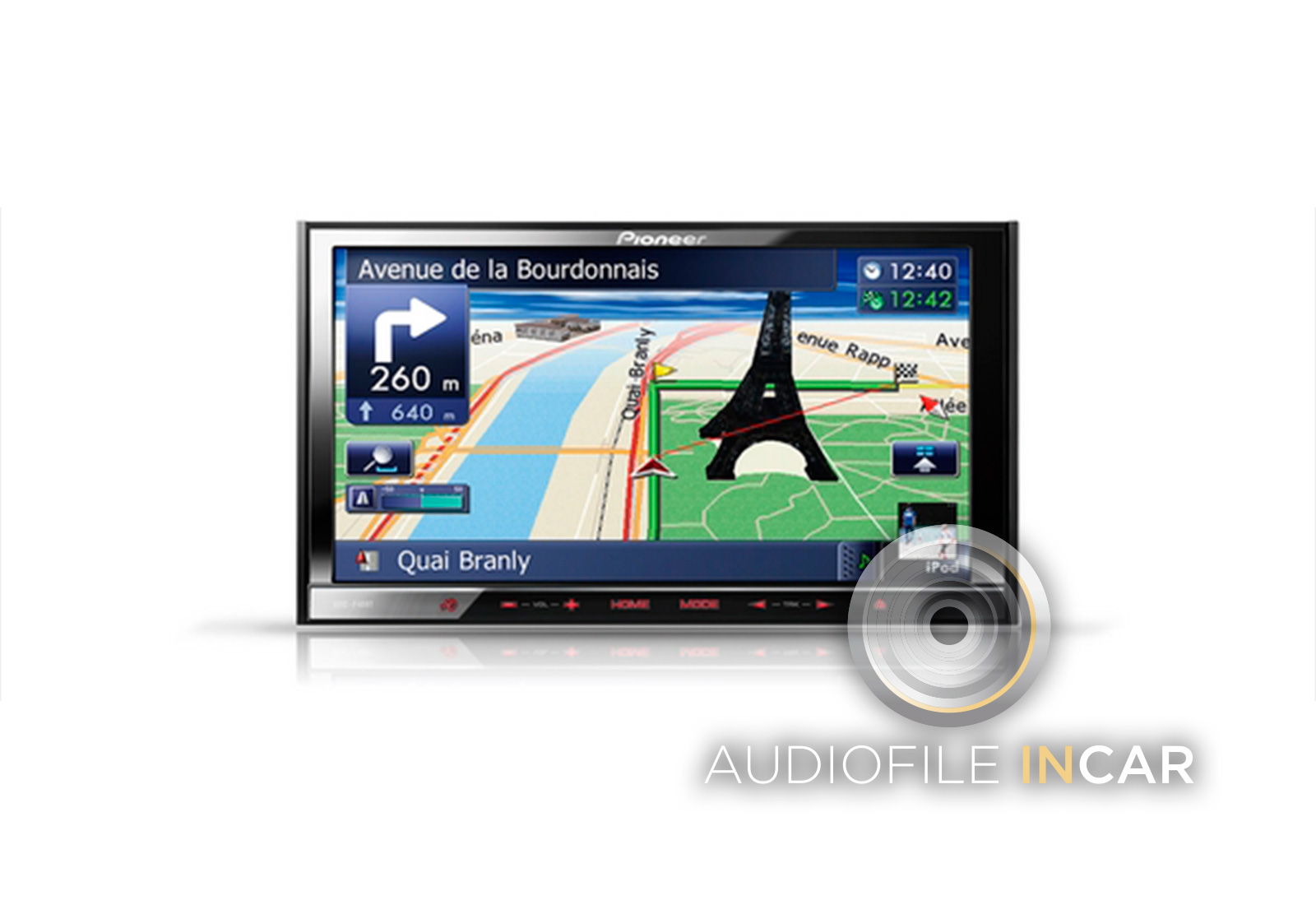 The new Pioneer Avic-F40, arguably the best double DIN Navigation system ever made.