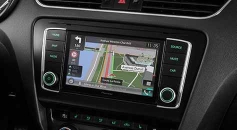 Skoda Octavia Navigation Solution with Apple Carplay and Android Auto